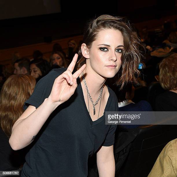 An instant view of Kristen Stewart at the 'Certain Women' Premiere during the 2016 Sundance Film Festival at Eccles Center Theatre on January 24 2016...