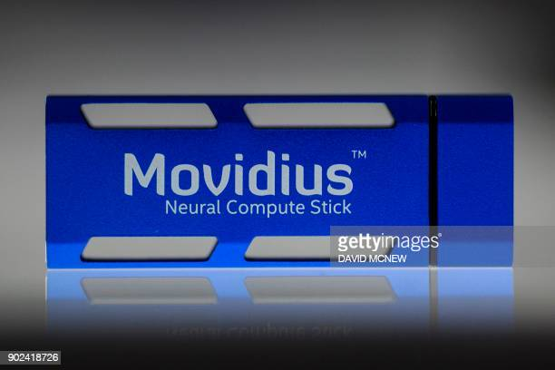 An Intel Movidius Neural Compute Stick a USBbased deep learning interface kit and selfcontained artificial intelligence accelerator and CES 2018...