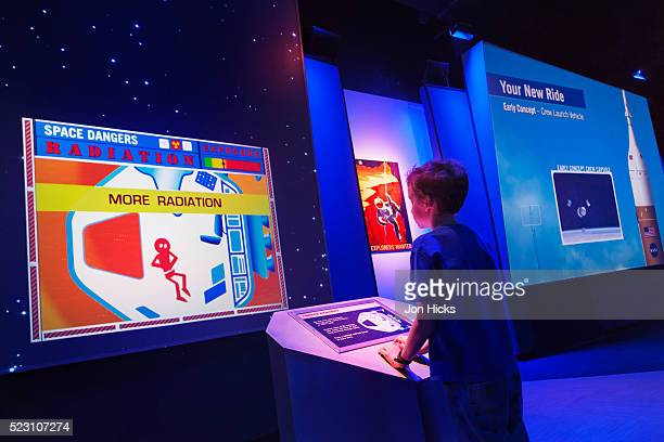 An interactive display at the Kennedy Space Center.
