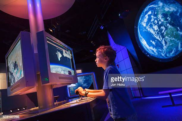 an interactive display at the kennedy space center. - museum stock pictures, royalty-free photos & images