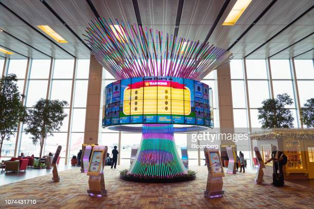 An interactive installation stands at Terminal 1 of Changi Airport in Singapore on Thursday Dec 13 2018 Singapore'sChangiAirport votedtheworld's...