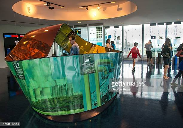 An interactive kinetic machine is featured at the Biosphere Environment Museum as viewed on June 28 2015 in Montreal Quebec Canada Montreal the...