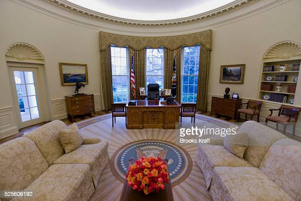 Usa politics the oval office of the white house for Inter decor usa