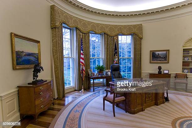An intererior view of the Oval Office when empty at the White House during the George W Bush Administration The Oval Office is the official office of...