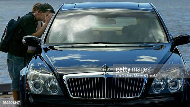 An interested bystander checking out the new $1 million dollar Damler Chrysler Maybach 57 during a preview for the Australian International Motor...