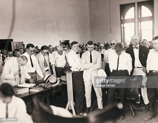 PRAYER OPENS EACH SESSION OF DAYTON TRIAL An interesting scene during the trial of John Thomas Scopes at Dayton Tennessee Each session of the Court...