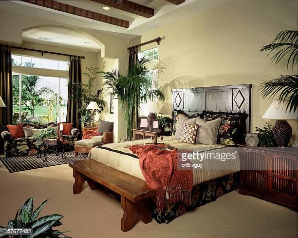 An interior bedroom design stock photo