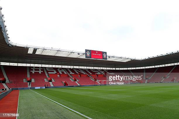 An interior general view of the St Mary's Stadium on August 24 2013 in Southampton England