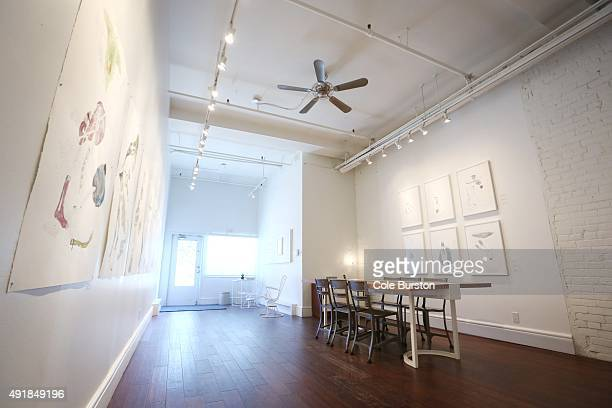 An interior of Alison Milne Gallery
