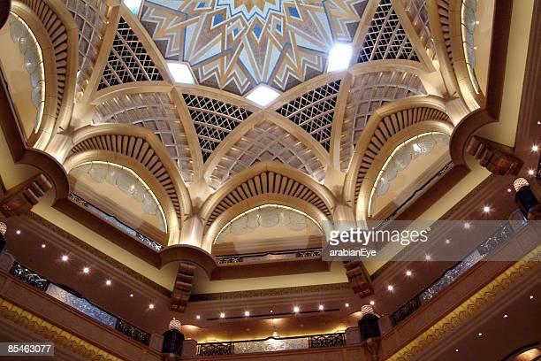 An interior of the Emirates Palace hotel, Abu Dhabi, UAE.