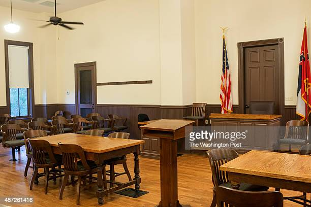 An interior of the restored Tallahatchie County Courthouse where the trial of the two men accused of killing Emmett Till was held Photographed on...