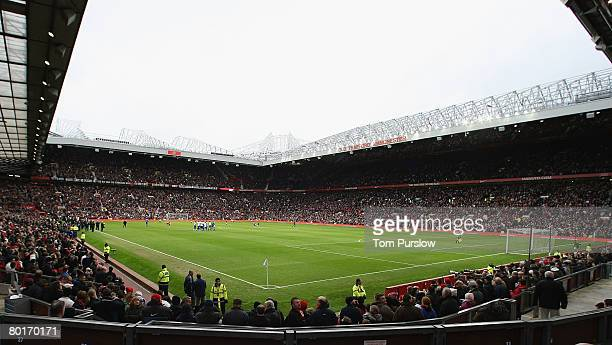 An interior shot of Old Trafford as the teams of Manchester United and Portsmouth walk out ahead of the FA Cup sponsored by eon QuarterFinal match...