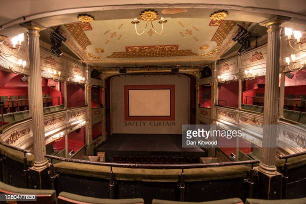 An interior shot of the Bristol Old Vic theatre on October 15, 2020 in Bristol, England. The theatre company based at Bristol's Theatre Royal, the...