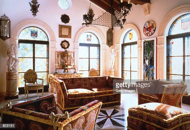 An interior space from the Miami home of murdered designer Gianni Versace Sotheby's is auctioning the collection of Versace's furnishings that...