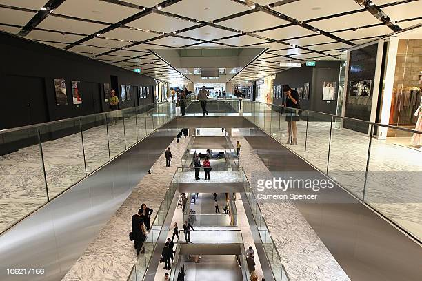 An interior view at the stage one opening of the Westfield Sydney shopping complex on October 28 2010 in Sydney Australia The $12 billion development...