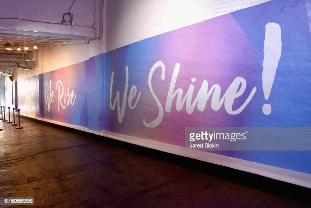 An interior view during POPSUGAR 2017 Digital NewFront at Industria Studios on May 3 2017 in New York City