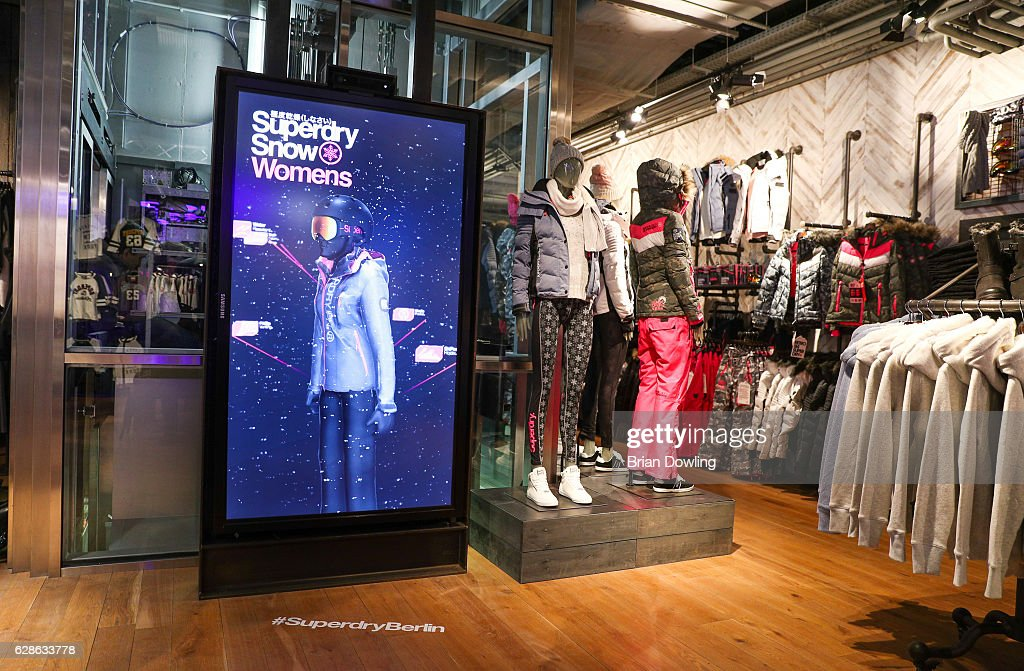 size 40 5da01 a67c6 An interior view during the grand opening of Superdry Berlin ...