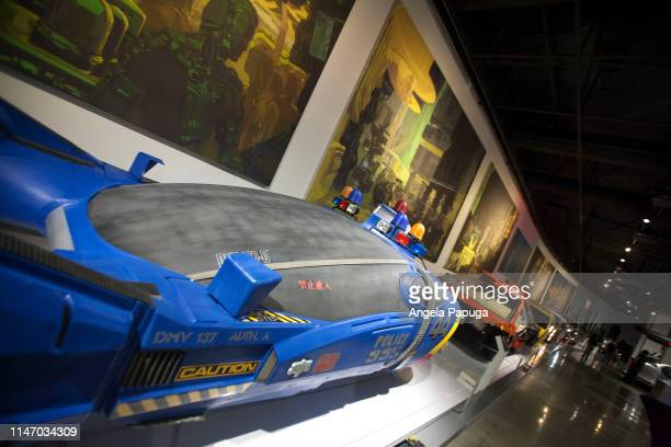 An interior view during the opening of the new exhibit Hollywood Dream Machines Vehicles Of Science Fiction And Fantasy at Petersen Automotive Museum...