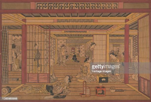 An Interior View in the Yoshiwara, ca. Early 1740s. Artist Torii Kiyotada.