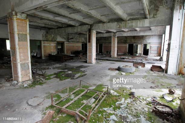 An interior view of a fire department at the Chernobyl exclusion zoneo in the abandoned city of Pripyat The HBO television miniseries Chernobyl...