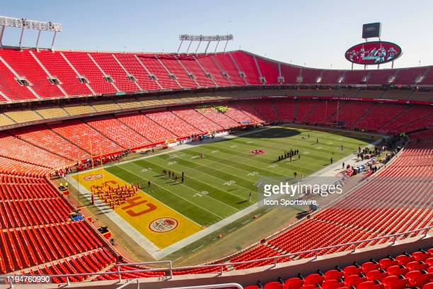 An interior view of Arrowhead Stadium prior to the AFC Championship game between the Tennessee Titans and the Kansas City Chiefs on Sunday January 19...