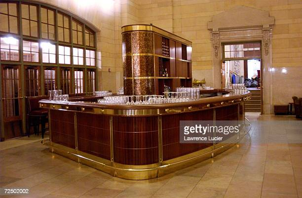 An interior view of basketball player Michael Jordans Steakhouse in Grand Central Station March 13 2002 in New York City