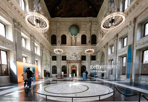 An interior view of Citizen's Hall the Royal Palace of Amsterdam which is at the disposal of the monarch of the Netherlands. With its classicist...