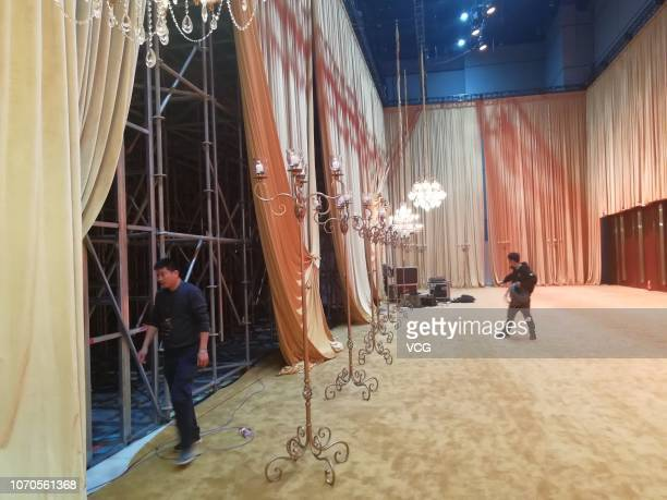 An interior view of Dolce Gabbana Great Show which was cancelled tonight on November 21 2018 in Shanghai China Many Chinese stars including Zhang...