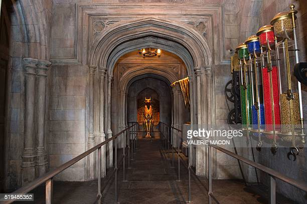 An interior view of Hogwarts is seen during the 'Wizarding World of Harry Potter Opening' press preview at Universal Studios Hollywood in Studio City...