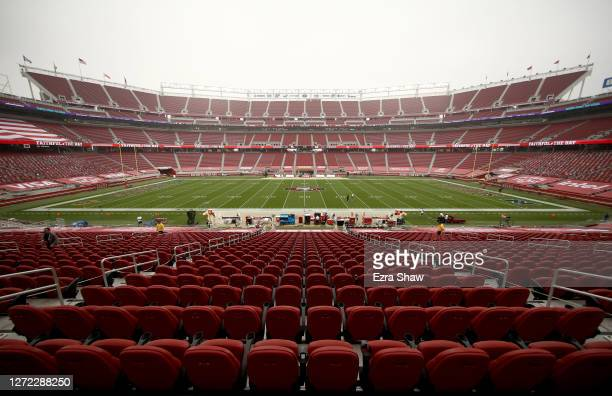 An interior view of Levi's Stadium before the San Francisco 49ers game against the Arizona Cardinals on September 13, 2020 in Santa Clara, California.