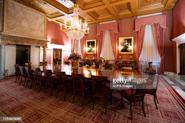 An interior view of living room the Royal Palace of Amsterdam which is at the disposal of the monarch of the Netherlands. With its classicist...