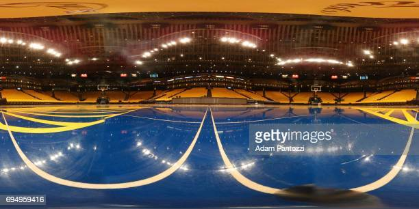 An interior view of ORACLE Arena before Game 1 of the NBA Finals in Oakland California on May 31 2017 NOTE TO USER User expressly acknowledges and...