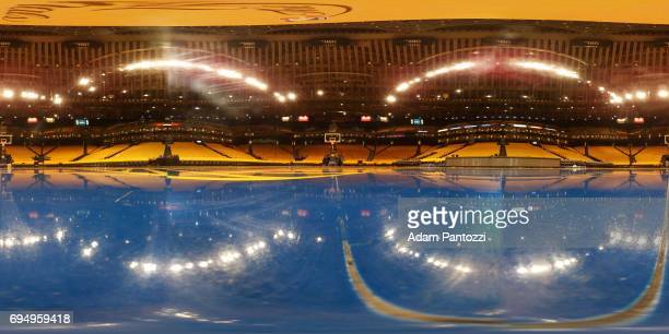 An interior view of ORACLE Arena prior to Game 1 of the NBA Finals in Oakland California on May 31 2017 NOTE TO USER User expressly acknowledges and...