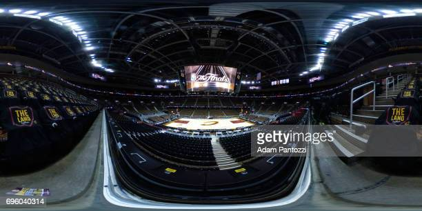 An interior view of Quicken Loans Arena before Game 3 of the NBA Finals in Cleveland Ohio on June 6 2017 NOTE TO USER User expressly acknowledges and...