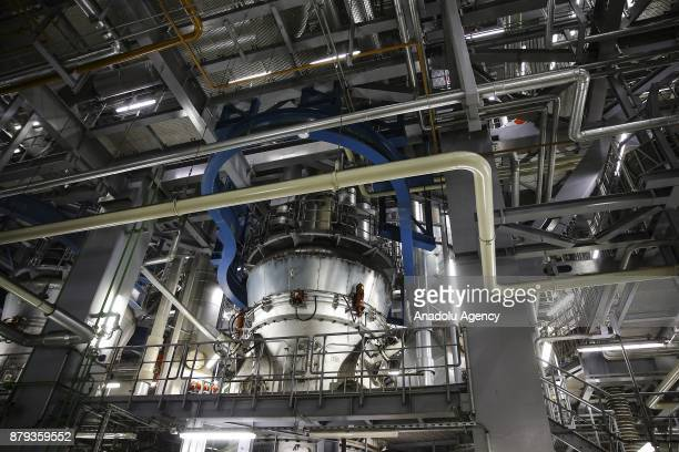 An interior view of RWE AG Eemshaven Power Plant in Groningen the Netherlands on November 26 2017 As the one of Europe's most important facilities...