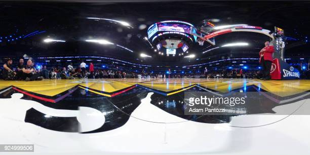 An interior view of STAPLES Centetr during the NBA AllStar Game as a part of 2018 NBA AllStar Weekend at STAPLES Center on February 18 2018 in Los...
