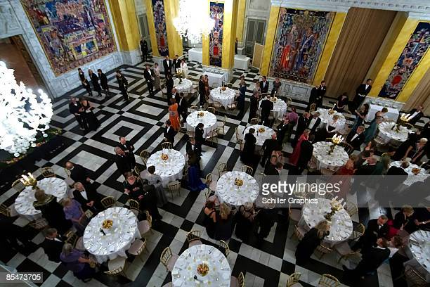 Internal view of Culture and Sport Gala Evening at Christiansborg Castle on March 17 2009 in Copenhagen Denmark COPENHAGEN DENMARK MARCH 17 An...
