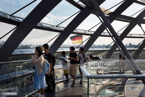 An interior view of the dome in the Reichstag building in Berlin The historical seat of Germany's parliament since the time of the Holy Roman Empire...