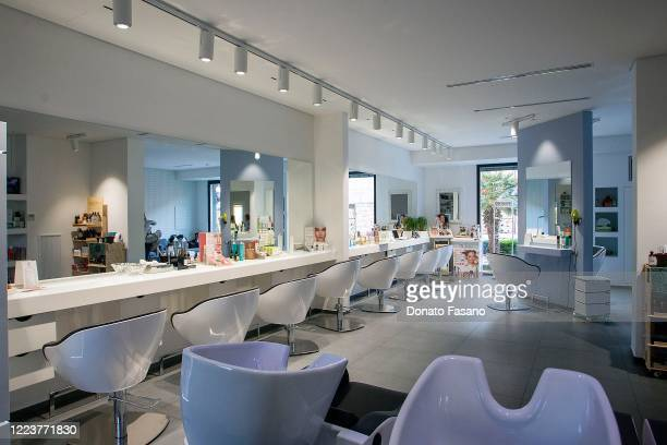 An interior view of the hairdresser on November 11 2019 in Matera Italy