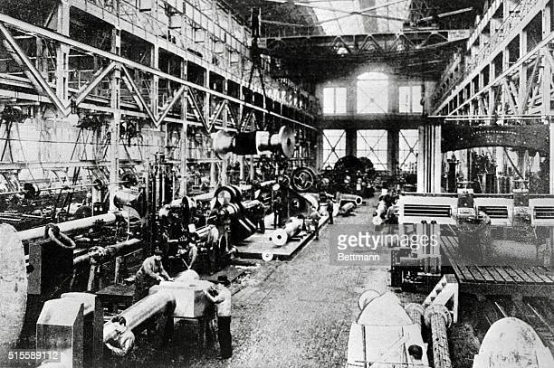 An interior view of the Krupp munitions works in Essen Germany