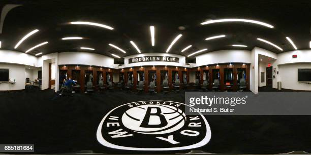 An interior view of the locker room of the Brooklyn Nets at Barclays Center in Brooklyn New York on March 28 2017 NOTE TO USER User expressly...
