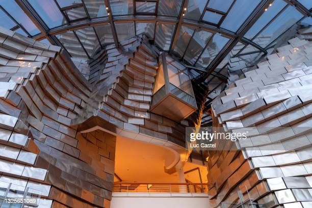 An Interior View of the Luma Foundation designed by Architect Frank Gehry in Arles on June 26, 2021 in Arles, France.