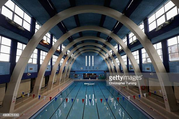 An interior view of the main pool in the Art-Deco style Mounts Baths on September 3, 2015 in Northampton, England. Mount Baths first opened in 1936...