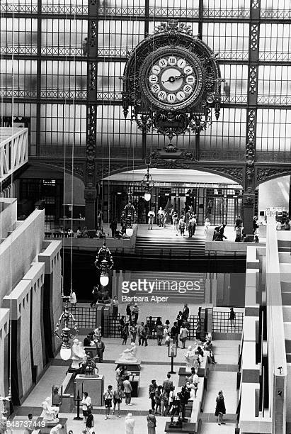 An interior view of the Musée d'Orsay museum in Paris France July 1991