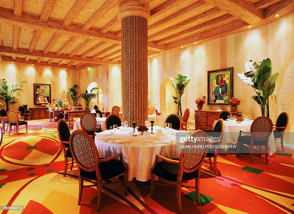 An Interior View Of The Picasso Restaurant At The Bellagio Hotel In