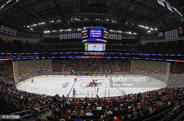 An interior view of the Prudential Center during the game between the New Jersey Devils and the Anaheim Ducks on October 18, 2016 in Newark, New...
