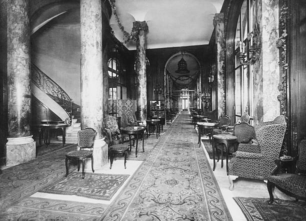 An interior view of the Ritz Hotel in Paris, circa...