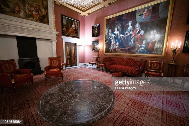 An interior view of the Royal Palace of Amsterdam which is at the disposal of the monarch of the Netherlands. With its classicist architectural...