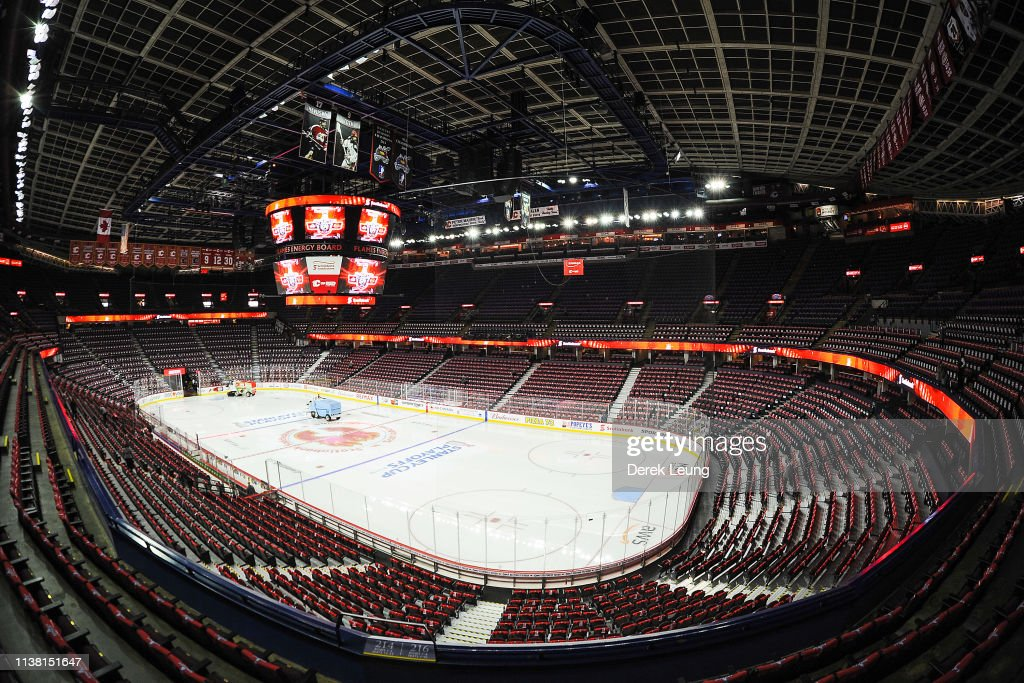 An Interior View Of The Scotiabank Saddledome Prior To Game Five Of News Photo Getty Images