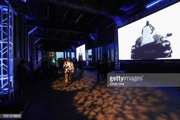 An interior view of the venue during the screening of the rag bone film Time Of Day at The High Line on September 10 2018 in New York City